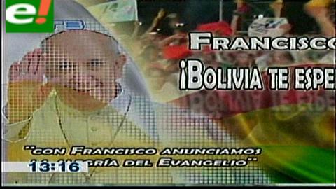 Iglesia católica realizó el lanzamiento del afiche oficial de la llegada del Papa