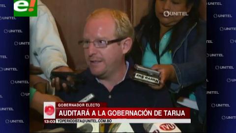 Gobernador electo de Tarija anuncia auditoría externa a la institución
