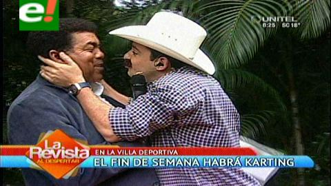 """El """"alcalde besucón"""" hizo de las suyas en la TV"""