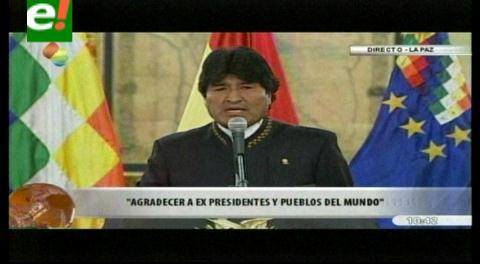 Evo celebra fallo de la CIJ y tiende la mano a Chile para dialogar sobre el mar