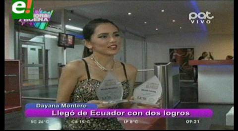 Dayana Montero premiada en el Ecuador Fashion Week
