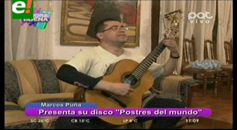 Guitarrista Marcos Puña presentará su CD «Postres del mundo»