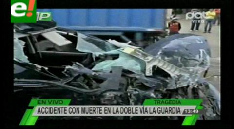 Accidente de tránsito en La Guardia se cobra una vida y deja dos heridos