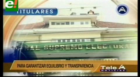 """Titulares de TV: Oposición pide al TSE que el presidente Morales suspenda entrega de obras """"electorales"""" 30 días antes del referéndum"""