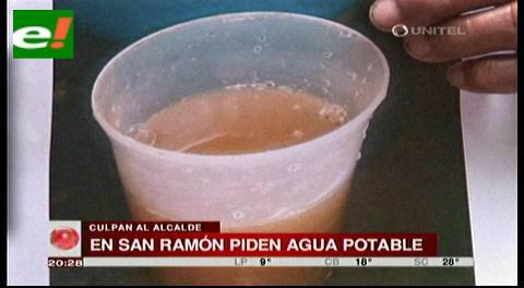 Pobladores de San Ramón piden agua potable