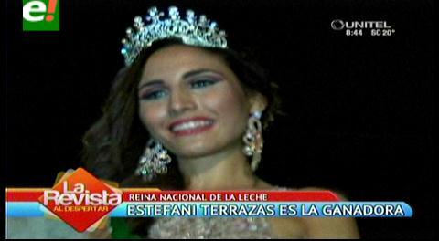 Esthefany Terrazas es Reina Nacional de la leche 2015