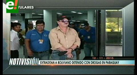 Titulares de TV: Extraditan a boliviano detenido con drogas en Paraguay