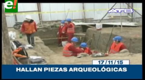 Titulares de TV: Hallan piezas arqueológicas durante los trabajos de construcción del Teleférico