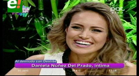 Daniela Núñez del Prado al desnudo
