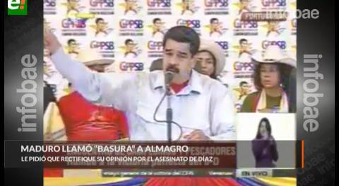 """Maduro pierde la chaveta: """"Espero una rectificación de usted, señor basura"""", espeta al Secretario General de la OEA"""