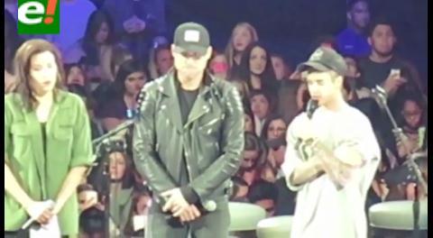 Justin Bieber predica a Cristo en pleno concierto en Los Ángeles
