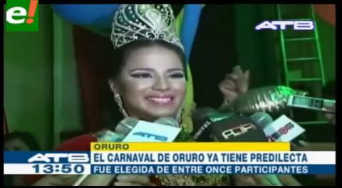 Oruro eligió a su Amiga Predilecta del Carnaval 2016