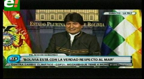 "Evo: Chile tendrá que explicar a Europa ""que nos han asaltado, que nos han robado el mar"""