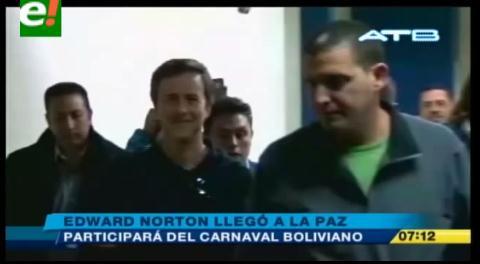 Edward Norton ya se encuentra en Bolivia