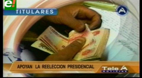Titulares de TV: Mineros de Huanuni entregaron Bs 350.000 para la campaña por el Sí