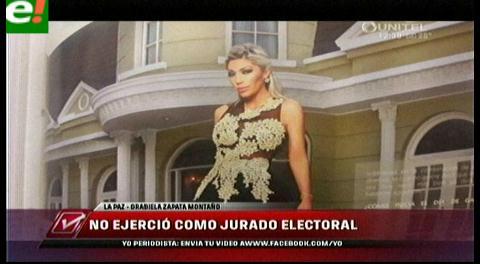 Gabriela Zapata, expareja de Evo, no se presentó en mesa de votación