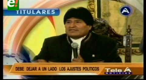 Titulares de TV: Oposición descarta pedir revocatorio de mandato de Evo Morales