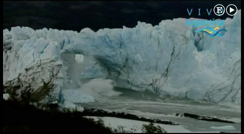 Argentina. Ruptura del glaciar Perito Moreno