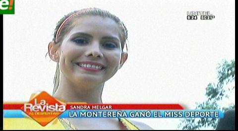 Montereña es la mejor deportista del Miss Santa Cruz 2016