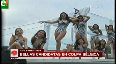 Candidatas de Miss Santa Cruz visitaron Colpa Bélgica