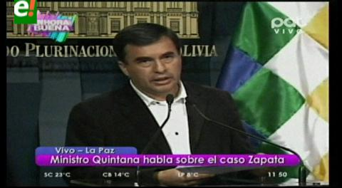 Chats con Zapata. Quintana niega todo, se pone a disposición de Fiscalía y entregará su celular