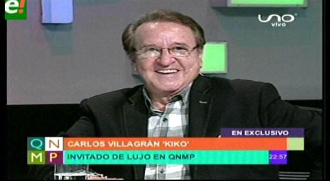 """Carlos Villagrán """"Kiko"""" un grande del humor infantil en Santa Cruz"""