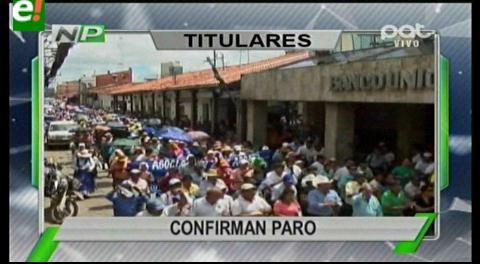 Titulares de TV: Gremialistas confirman paro nacional