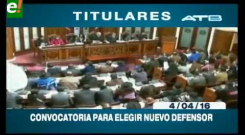 Titulares de TV: ALP prepara convocatoria para la elección del Defensor del Pueblo