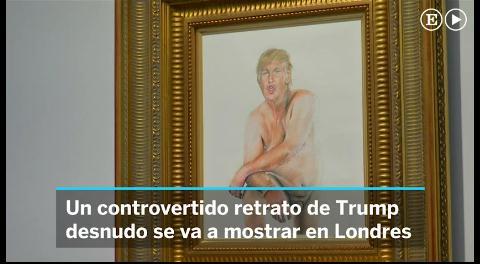 Un cuadro de Donald Trump desnudo, prohibido en Estados Unidos