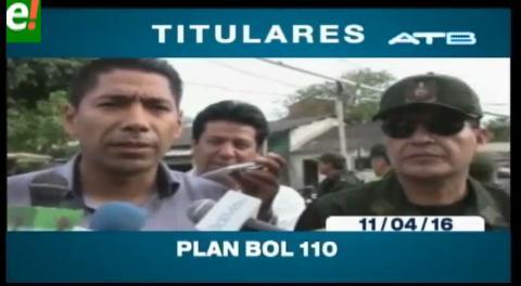 Titulares de TV: Gobierno lanza Plan Bol -110 e invertirá $us 105 millones