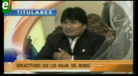 Titulares de TV: Bolivia rechaza agresiones verbales y burlas en Chile en contra del presidente  Morales