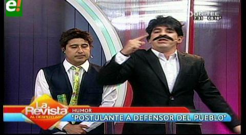"""""""Mensaje"""" del nuevo """"candidato"""" a Defensor del Pueblo"""