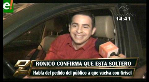 Ronico confirma que está soltero