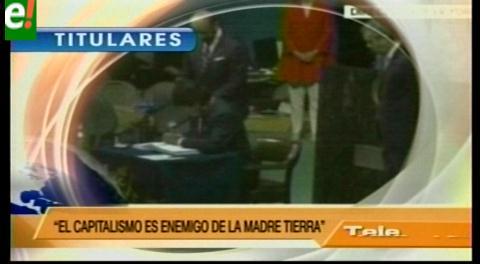 Titulares de TV: Evo Morales en la ONU firmó el Acuerdo de París
