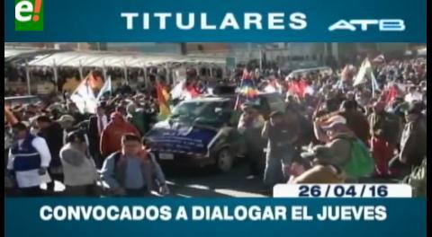Titulares de TV: Gobierno convoca a dialogar a los discapacitados este jueves