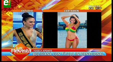 Boliviana destaca en certamen internacional de belleza