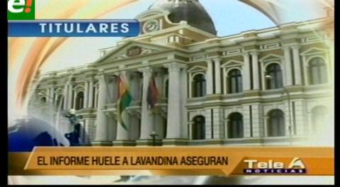 Titulares de TV: Para la oposición el informe de la Comisión Mixta sobre Camc es sólo una protección al Presidente