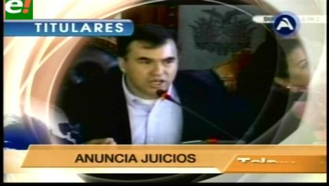 Titulares de TV: Interpelan a Quintana en la ALP por los casos CAMC y Gabriela Zapata