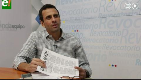 """""""Maduro prefiere un golpe de Estado a un revocatorio"""""""
