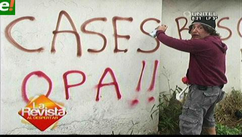 Perruco autor material del grafiti para Anabel Angus