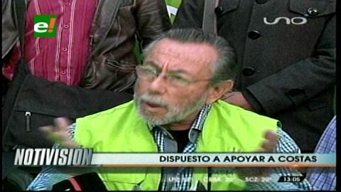 Juan Del Granado propuso a Costas como candidato a la presidencia