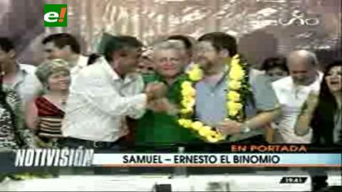 Titulares: Proclaman el binomio presidencial Samuel-Ernesto