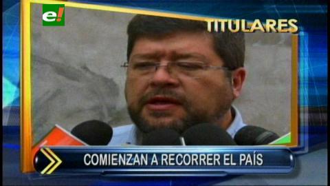 Titulares: Binomio Samuel-Ernesto comienza a recorrer el país, comenzarán en Puerto Quijarro y La Paz