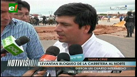 Santa Cruz: Ruta al norte queda expedita tras acuerdo entre montereños y la ABC