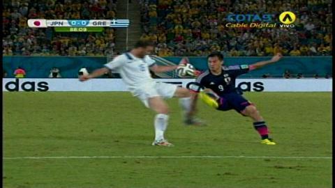 Japón empató 0-0 con Grecia por el Mundial Brasil 2014