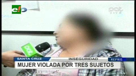 Tres sujetos secuestran y ultrajan a una mujer en Santa Cruz