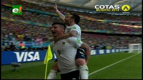 Mundial Brasil 2014: Francia aplasta a Suiza por 5-2