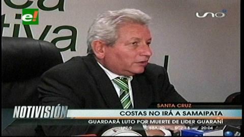 Rubén Costas no asistirá al solsticio de invierno en Samaipata