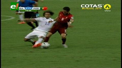 Mundial Brasil 2014: Portugal empató 2-2 con EEUU en el último minuto