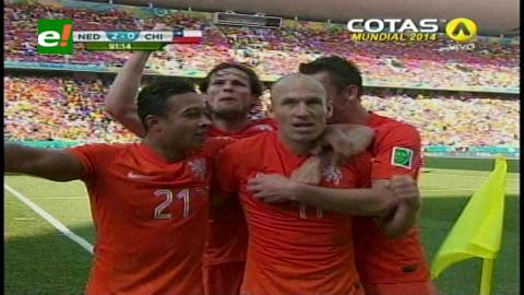 Holanda impone su jerarquía ante una defensiva Chile